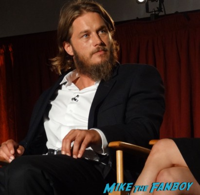 travis fimmel at the vikings cast q and a television academy 106
