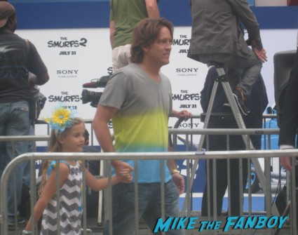 Larry Birkhead and daughter Dannielynn Birkhead the smurfs 2 movie premiere rare red carpet promo