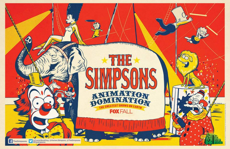 simpsons sdcc 2013 promo poster FOX Booth promo