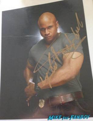 LL Cool J fan photo signing autographs for fans rare promo hot