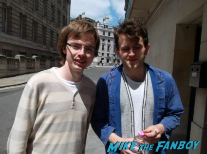 Harry Melling fan photo signing autographs for fans rare