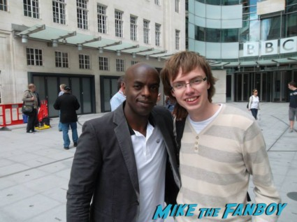 DJ Trevor Nelson signing autographs for fans rare promo hot