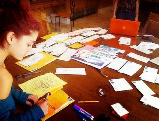 Ariana Grande signing autographs for fans hot fanmail
