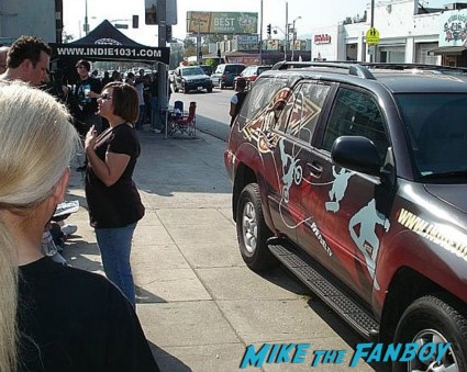 Terminator the sarah connor chronicles car at the autograph signing golden apple comics shirley Manson