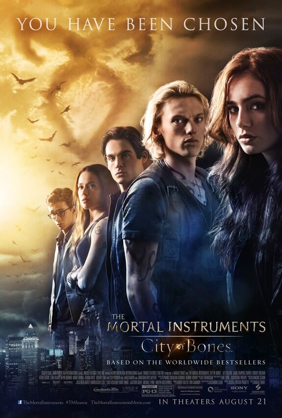 New The Mortal Instruments: City Of Bones Movie Poster! Lily Collins! Jamie Campbell Bower! Kevin Zegers!
