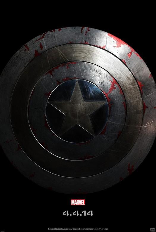 Captain America: The Winter Soldier teaser movie poster rare promo chris evans