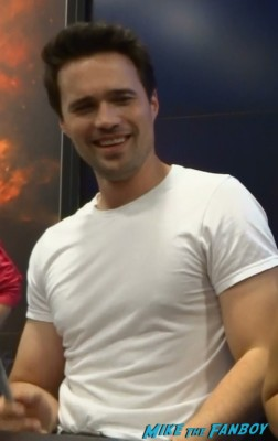 sexy Brett Dalton signing autographs at Marvel's Agents of S.H.I.E.L.D. Autograph Signing at SDCC comic con rare joss whedon clark gregg