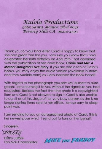 Carol Burnett Note