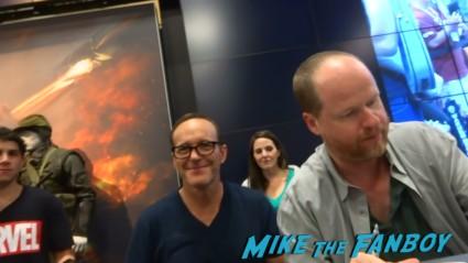 Clark gregg at Marvel's Agents of S.H.I.E.L.D. Autograph Signing at SDCC comic con rare joss whedon clark gregg