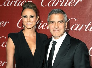 George Clooney and Stacey Kiebler red carpet photo rare promo hot