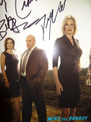Dean Norris signed autograph breaking bad cast photo rare Dean Norris Signing autographs for fans breaking bad star rare
