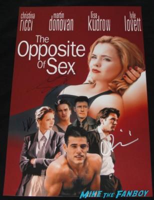 lisa kudrow signed the opposite of sex mini poster johnny galecki christina ricci martin donovan