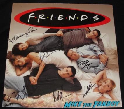 Friends cast signed autograph promo poster lisa kudrow courteney cox jennifer aniston matt leBlanc Matthew perry