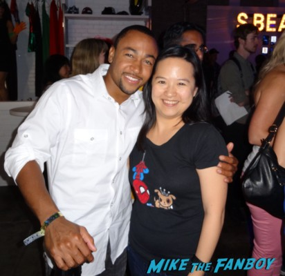 Percy Daggs III fan photo signing autographs veronica mars movie samsung party rare