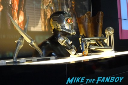 Marvel guardians of the galaxy prop and costume display from San diego comic con rare promo