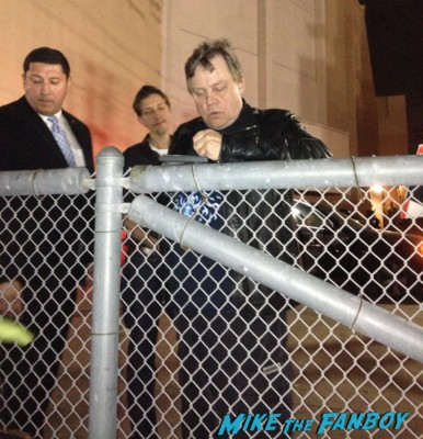 Mark Hamill signing autographs for fans capetown film festival rare promo luke skywalker now 2013