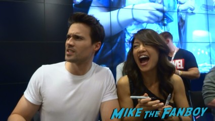 Brett Dalton and Ming-Na Wen Marvel's Agents of S.H.I.E.L.D. Autograph Signing at SDCC comic con rare joss whedon clark gregg