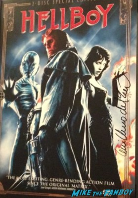 Guillermo del Toro signed autograph hellboy dvd cover ron pearlman promo