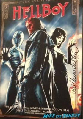 Guillermo del Toro signed autograph hellboy dvd cover ron pearlman promo