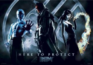 Hellboy rare promo movie poster teaser hot ron pearlman selma blair