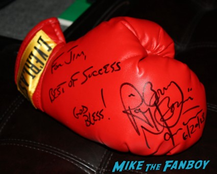 "Ray ""Boom Boom"" Mancini signed autograph boxing glove rare promo signed autograph photo rare boxing legend rare"