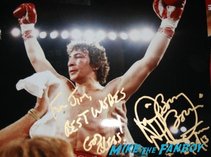 "Ray ""Boom Boom"" Mancini signed autograph photo rare boxing legend rare"