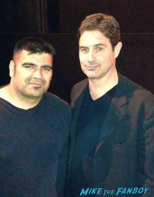 Zach Galligan now 2013 fan photo signing autographs with fans hatchet 3 movie premiere rare