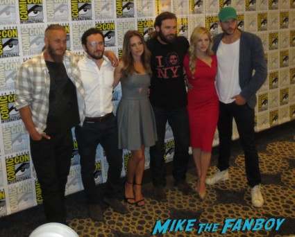 The Vikings cast at san diego comic con 2013 travis fimmel katheryn winnick gustof skarsgard clive standen