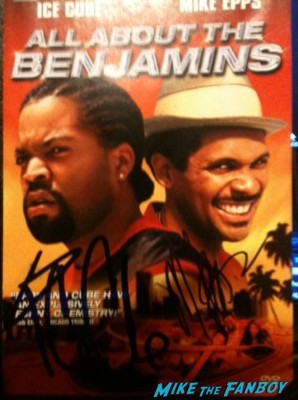 Ice Cube signed autograph all about the benjamins dvd cover rare promo movie