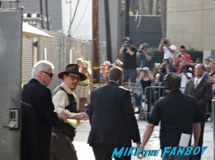 Johnny depp arriving to a taping of jimmy kimmel live hot rare