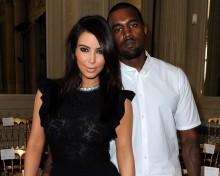 Kim kardashian Kanye west photo couple rare promo red carpet