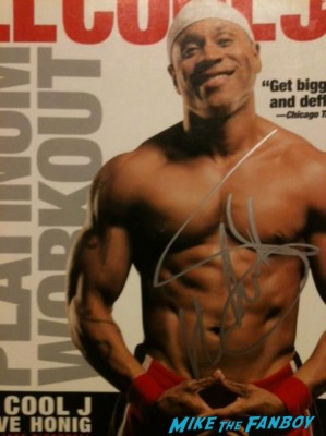LL Cool J signed autograph signature rare ultimate workout rare book dvd cover