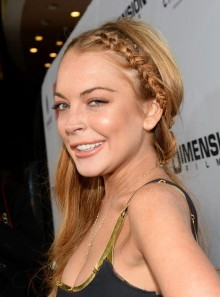 Lindsay Lohan birthday rare happy birthday looking rough