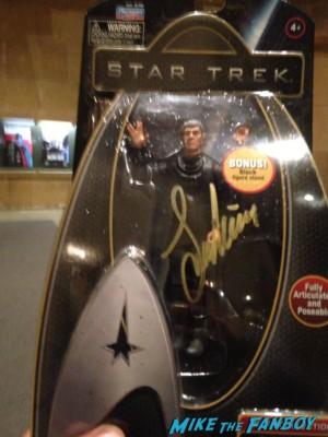 Leonard nimoy signed autograph spock action figure rare promo 2009 action figure rare