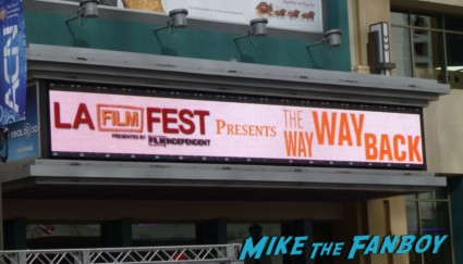 The Way Way Back movie premiere marquee with toni collette steve carell annasophia robb and more
