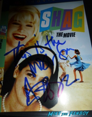 Shag the movie signed autograph annabeth gish autograph signed rare promo dvd movie poster