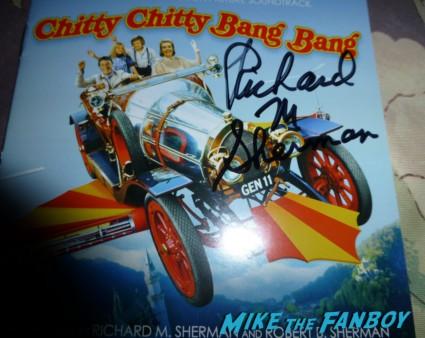 Richard M. Sherman signed chitty chitty bang bang lp Disney legend Richard M. Sherman signing autographs for fans rare