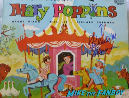 Richard M. Sherman signed mary poppins lp Disney legend Richard M. Sherman signing autographs for fans rare