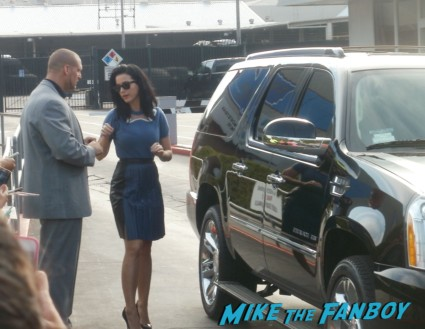 Katy Perry signing autographs for fans outside the tonight show with Jay Leno rare signature