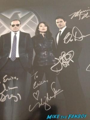 Brett Dalton and Ming-Na Wen Marvel's Agents of S.H.I.E.L.D. Autograph Signing at SDCC comic con rare joss whedon clark gregg