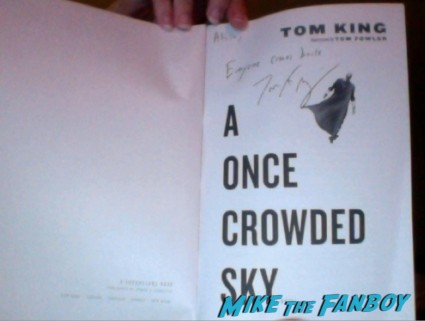Tom King and Joe Benitez signed autograph books san diego comic con rare promo