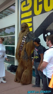 Chewbacca cosplay at san diego comic con rare 2013 promo photo