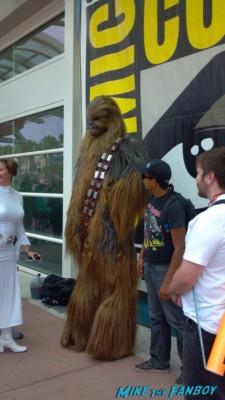 Chewbacca cosplay at san diego comic con rare 2013 promo photo