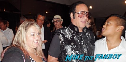 pinky trying to get a photo with andrew dice clay now rare promo hot movie premiere after party
