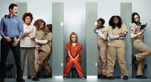 Orange is the new black key art rare promo poster taylor Schilling