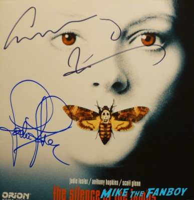 Silence of the Lambs signed autograph poster anthony hopkins jodie foster rare promo hot