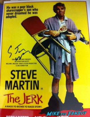 steve martin signed autograph the jerk mini poster rare promo hot Steve Martin signing autographs for fans before his folk show rare