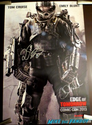 director Doug Liman and writer Christopher McQuarrie signed autograph edge of tomorrow movie poster
