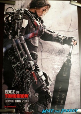 Emily blunt signed autograph edge of tomorrow SDCC Movie Poster