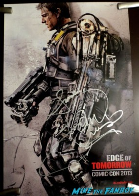 tom cruise signed autograph edge of tomorrow SDCC Movie Poster